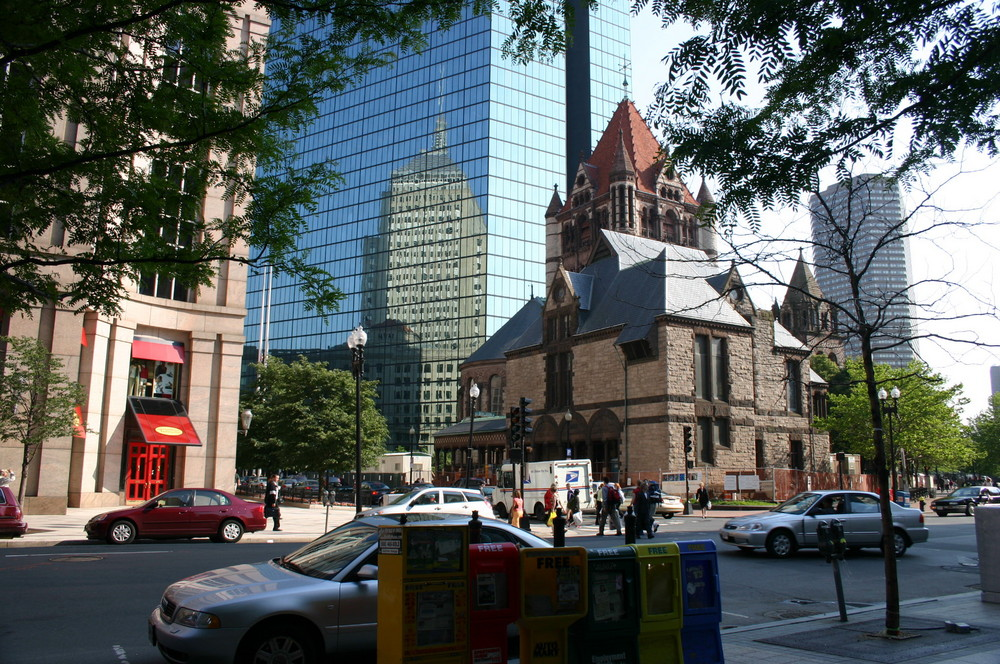 Trinity Church and Hancock Tover - Boston