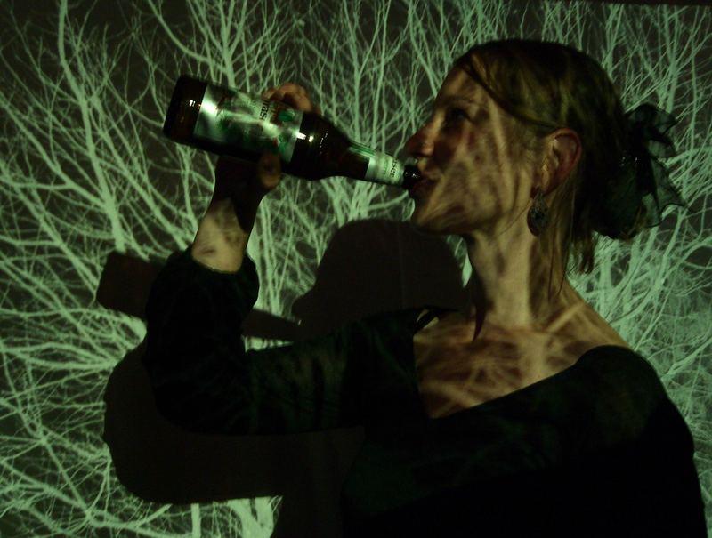Trinken im Wald