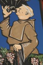 Trinkender Mönch