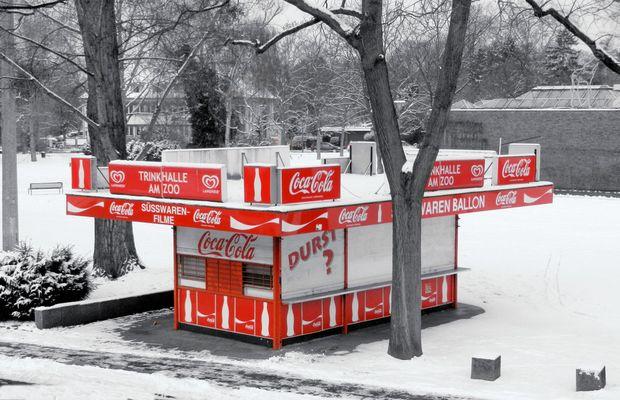 Trinkhalle im Winter