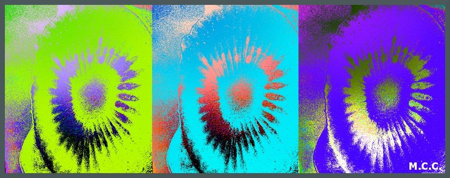 Tríptico de colores.