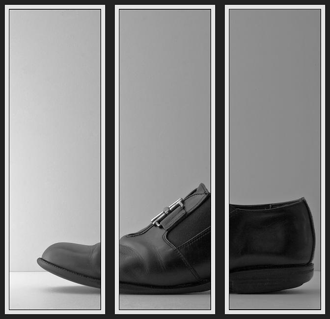 Triptychon mit Schuh