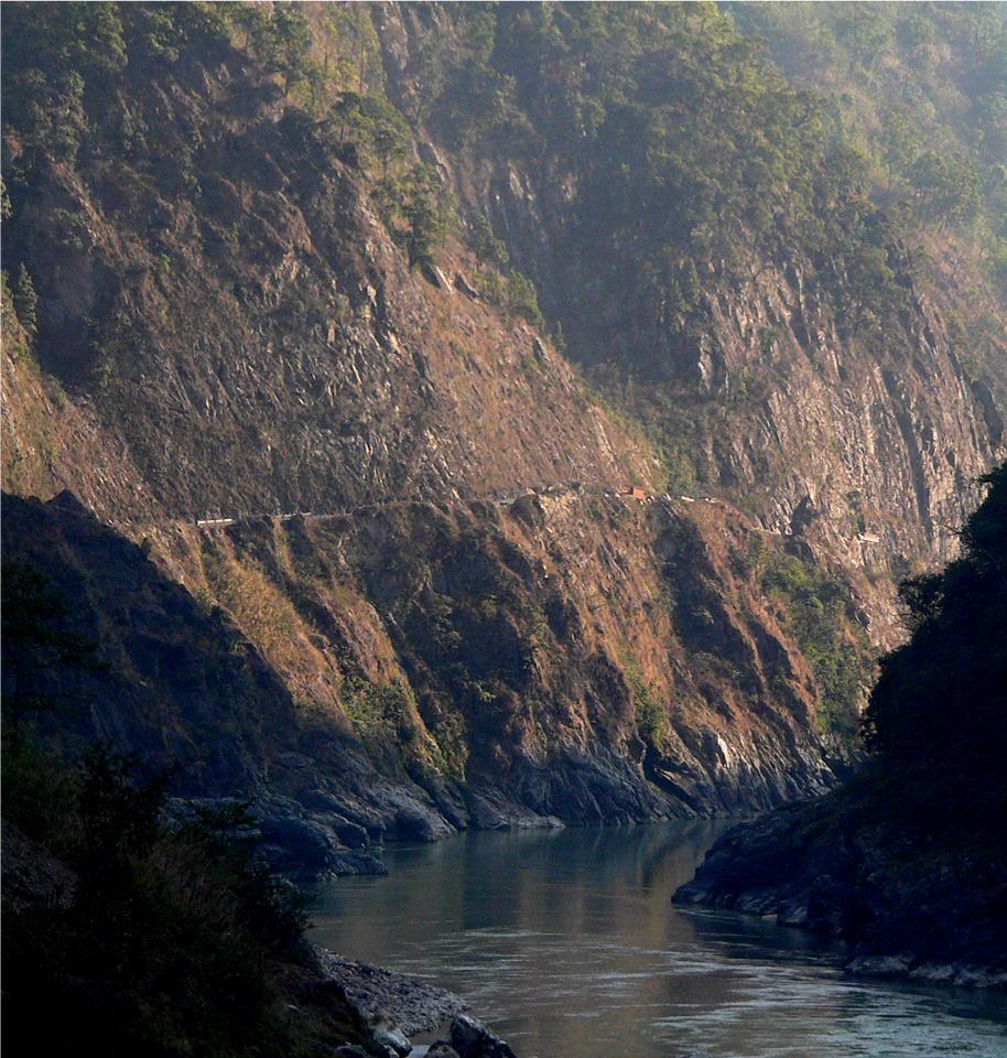 Trisuli River Gorge Schlucht zwischen Mugling und Naranghat