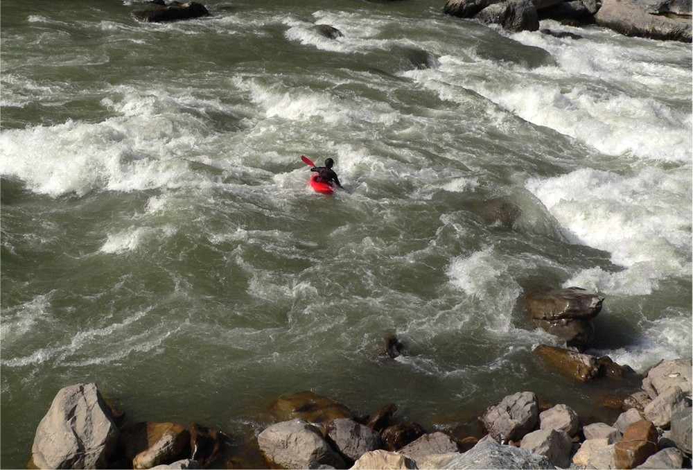Trisuli River on a Class V Rapid