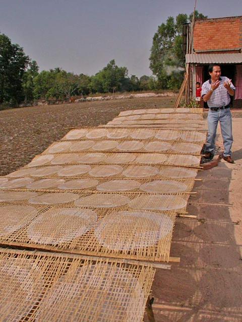 Trocknungsanlage für Reispapier