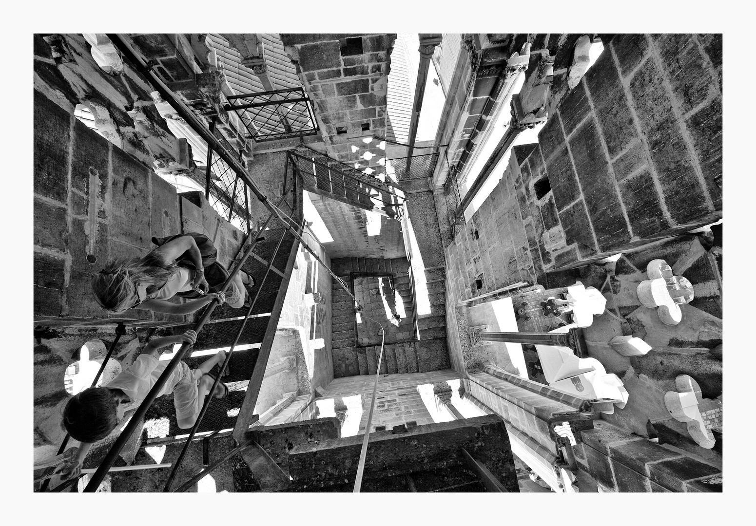 Trogir - Aufstieg in den Turm der Kathedrale