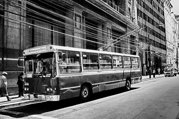 Trolleybus in Valparaiso