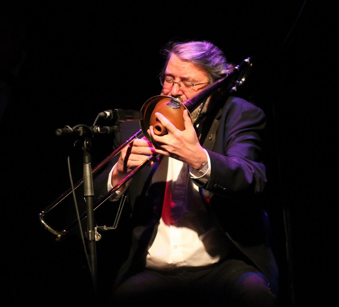 Trombone . . . voller Einsatz auch im Sitzen!