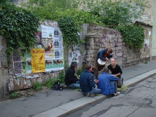 Trommler auf der Böhmischen Straße