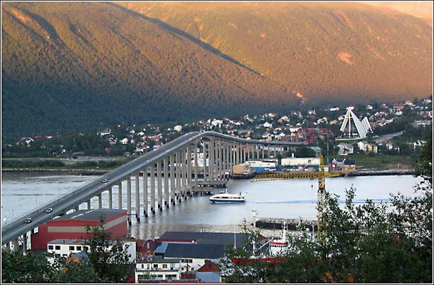 Tromsø im August 2006 abends um halb zehn