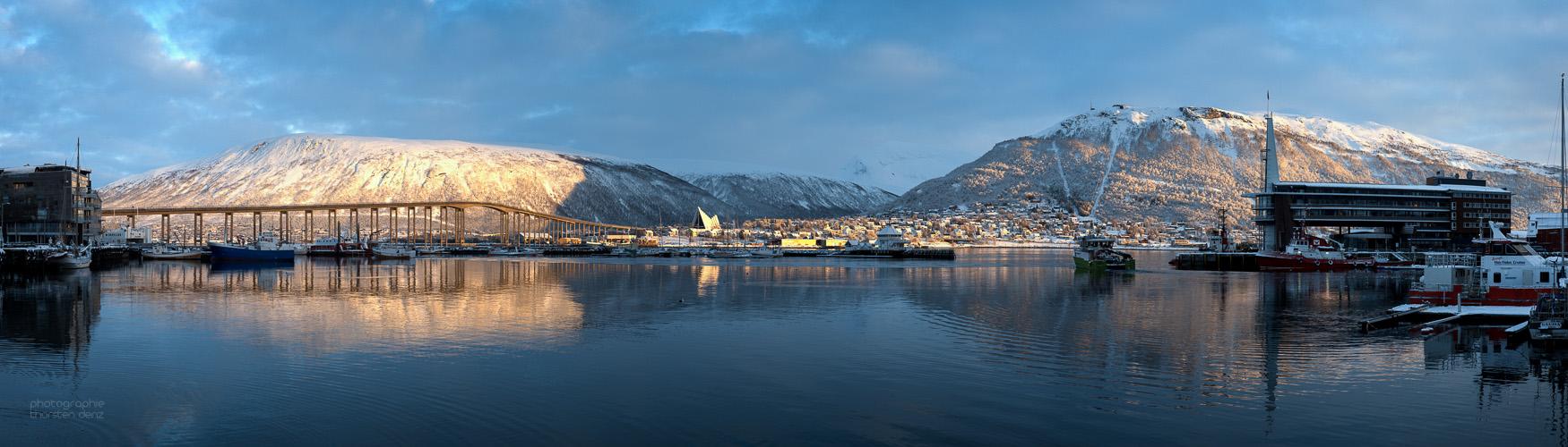 Tromsø - Pano vom Hafen