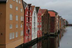 Trondheim, alte Warenhäuser
