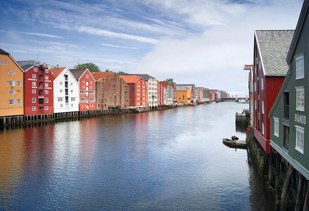 Trondheim - Speicherhäuser am Nidelv