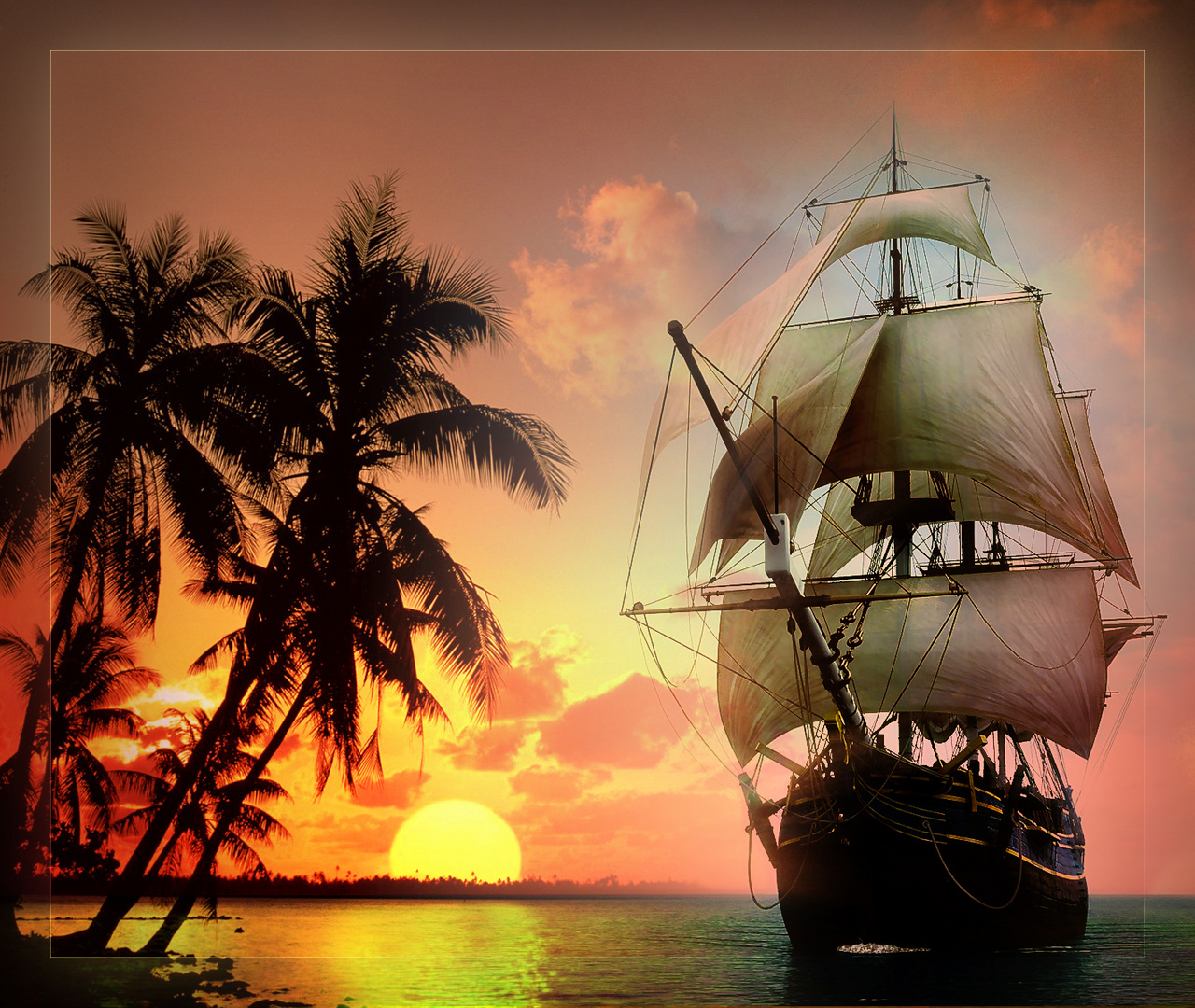 Tropical Island Ship