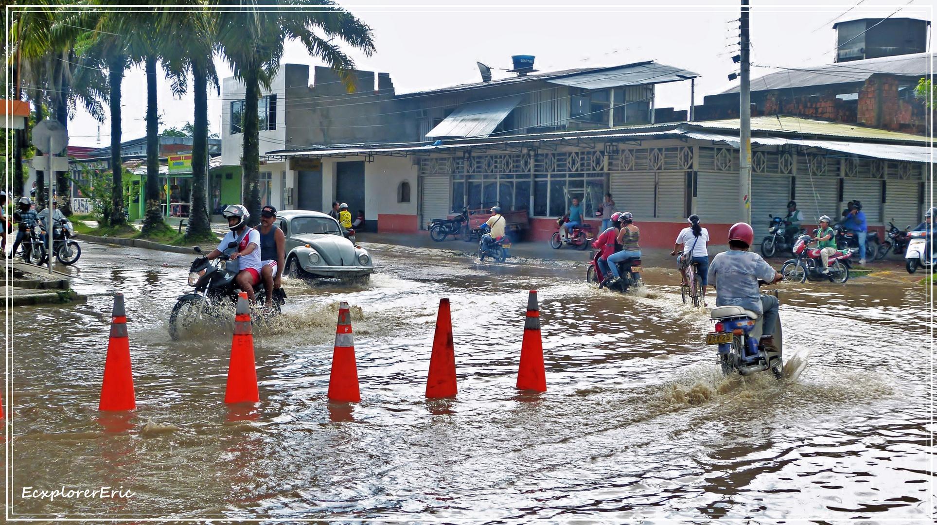 Tropischer Regenguss..............