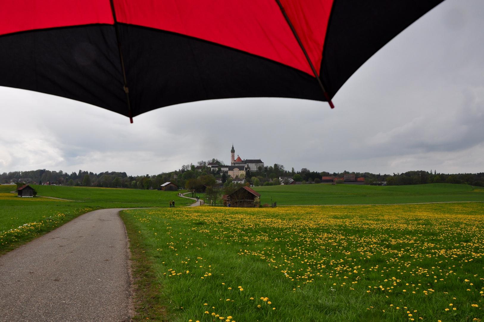 Trotz Regenschauer……..