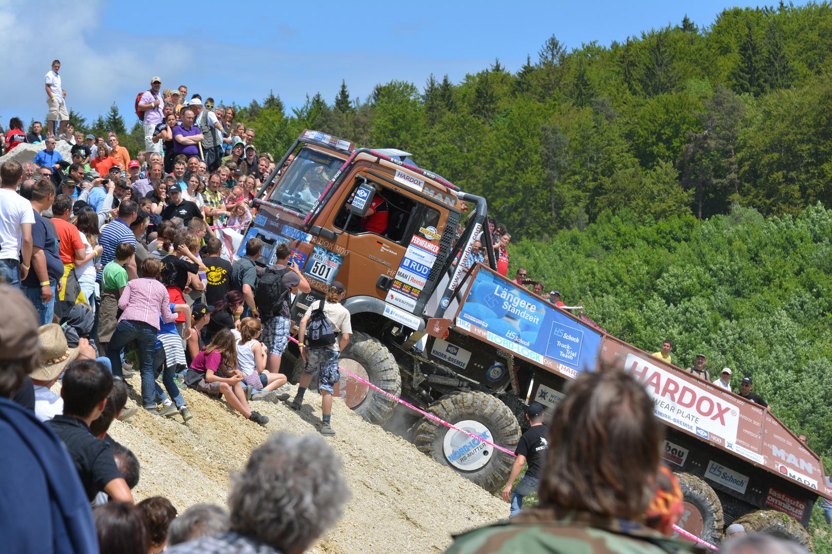 Truck Trail beim Schotter Teufel in Straßberg