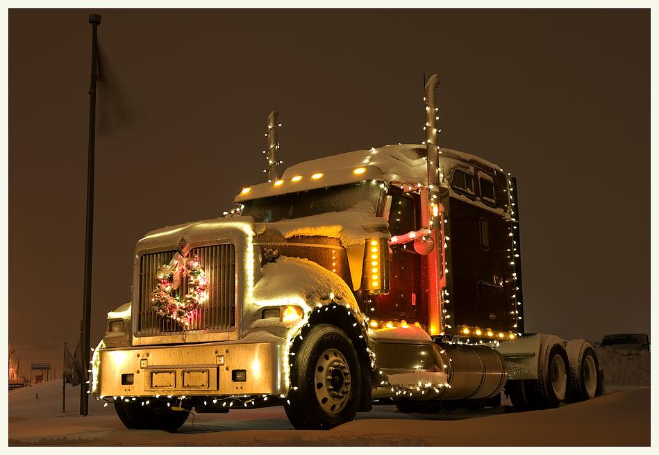 Trucker's Weihnachtsbaum