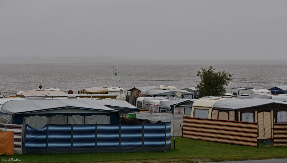 Trübe Aussichten an der Nordsee.
