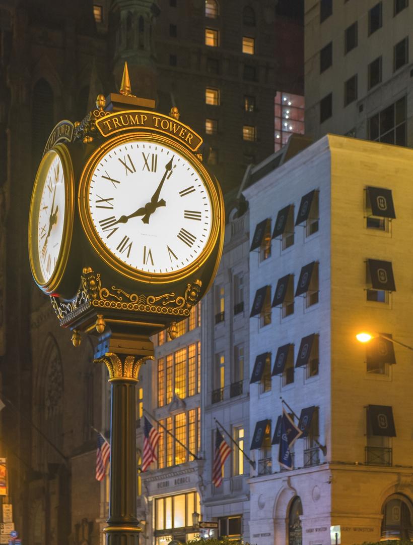 Trump Tower Uhr in der 5th Ave