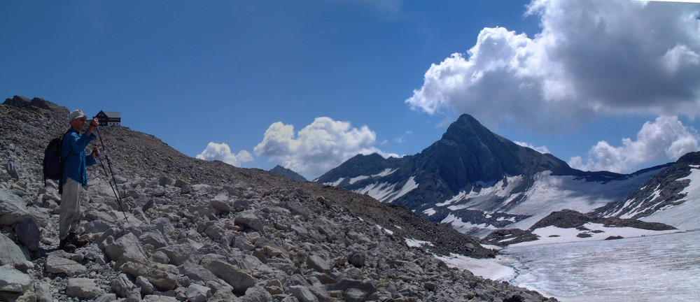 Tschesaplana mit Gletscher