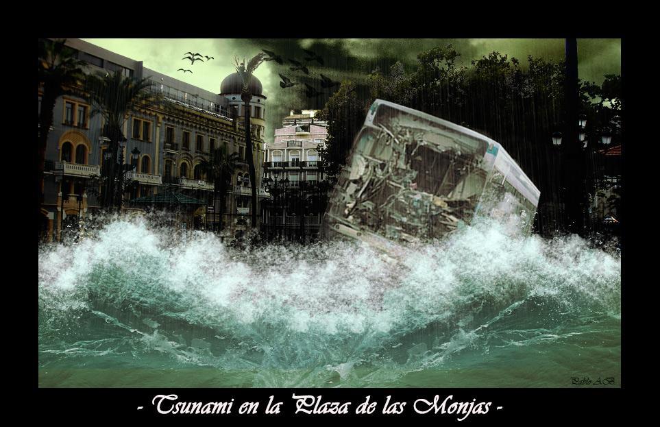 Tsunami en la Plaza de las Monjas