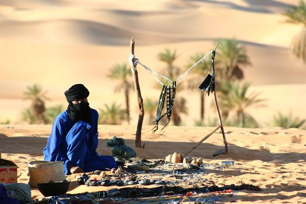 Tuareg an den Mandara-Seen