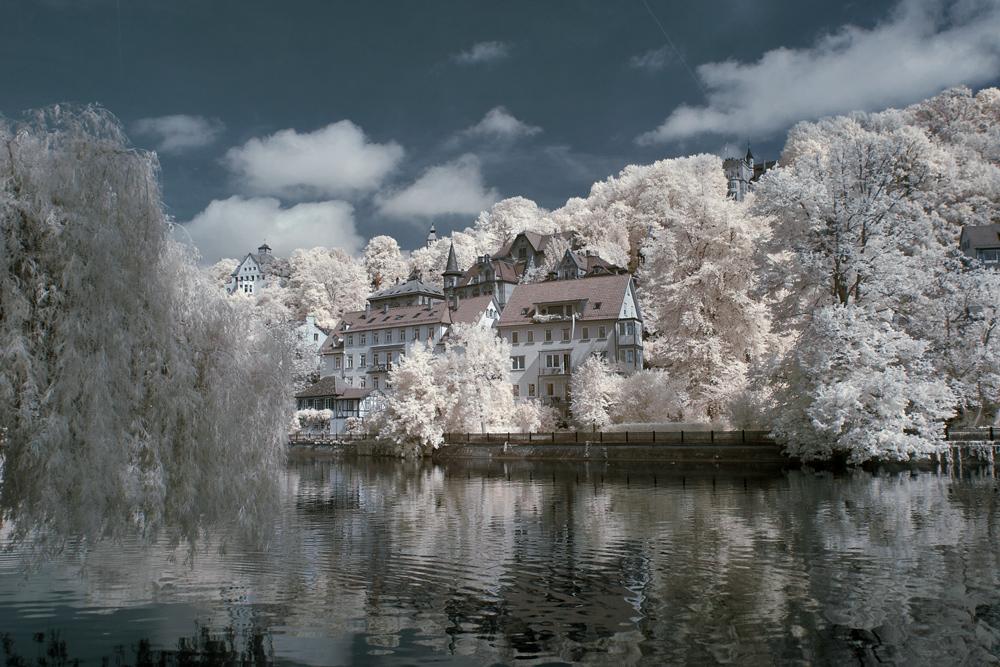 Tübingen am Neckarufer.