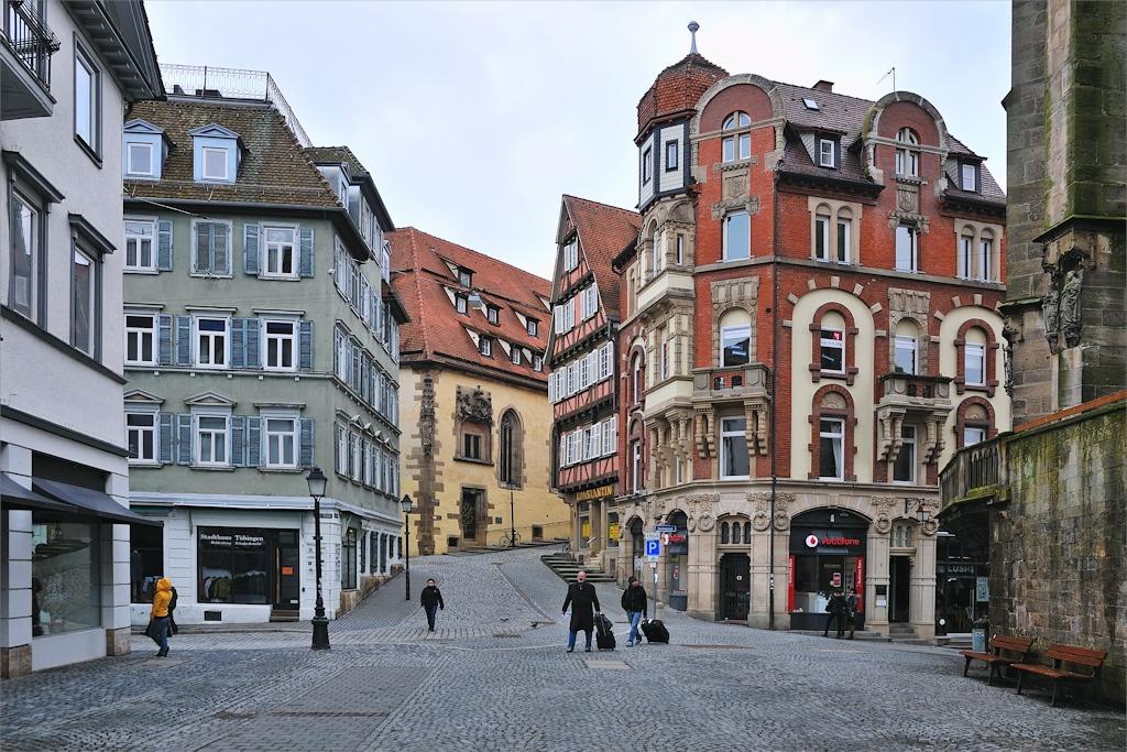 Tübingen - Holzmarkt und Schulberg