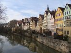 Tübingen mit Blick von der Neckarbrücke i.R. Hölderlinturm