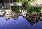 Tübingen Neckarfront - gespiegelt