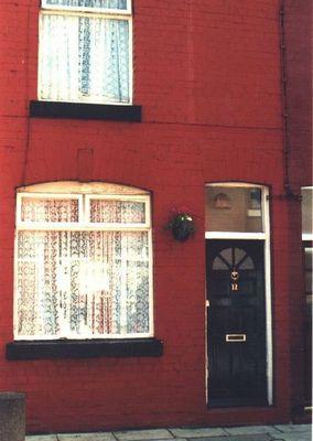 Tür am Geburtshaus von George Harrison