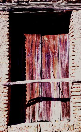Tür eines Vorratshauses mit Kordelverschluss (Sizilien)