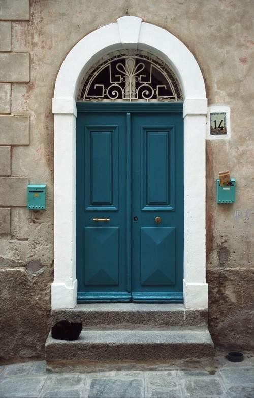 Tür mit Katze (Original)