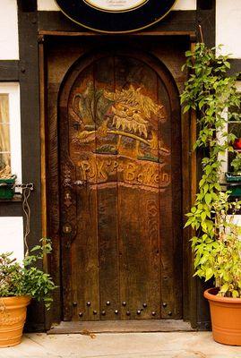 Tür zur Kneipe
