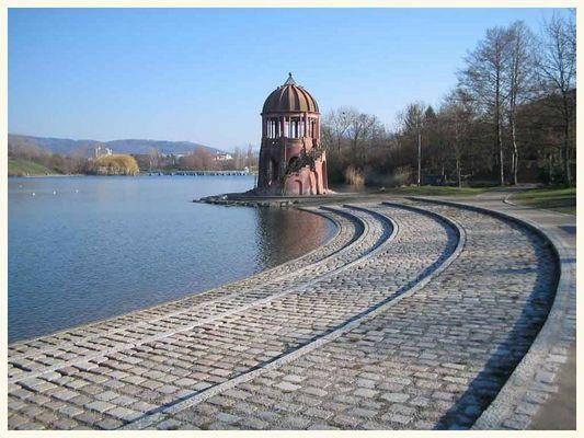 Türmchen am Ufer - Seepark Freiburg