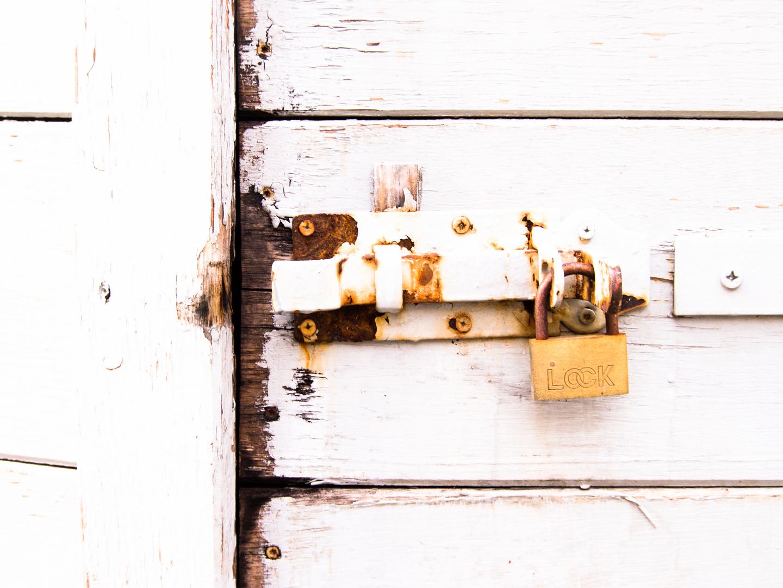 Türschloss in High Key