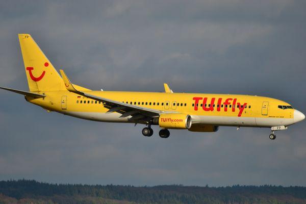 TuiFly in Anflug auf Köln