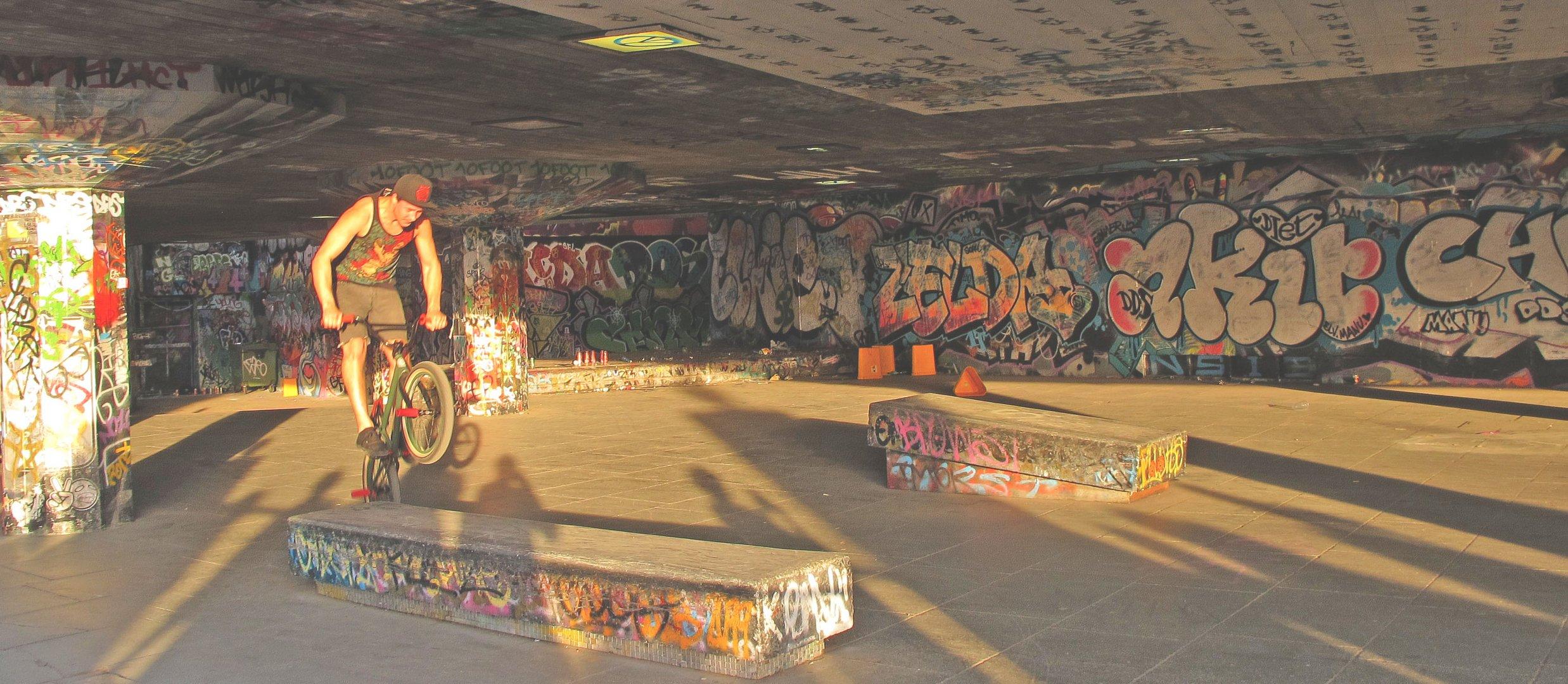 Tummelplatz für Skater und Biker