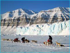 Tunabreen Gletscher