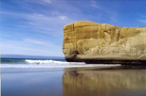 Tunnel Beach bei Dunedin, Südinsel Neuseeland