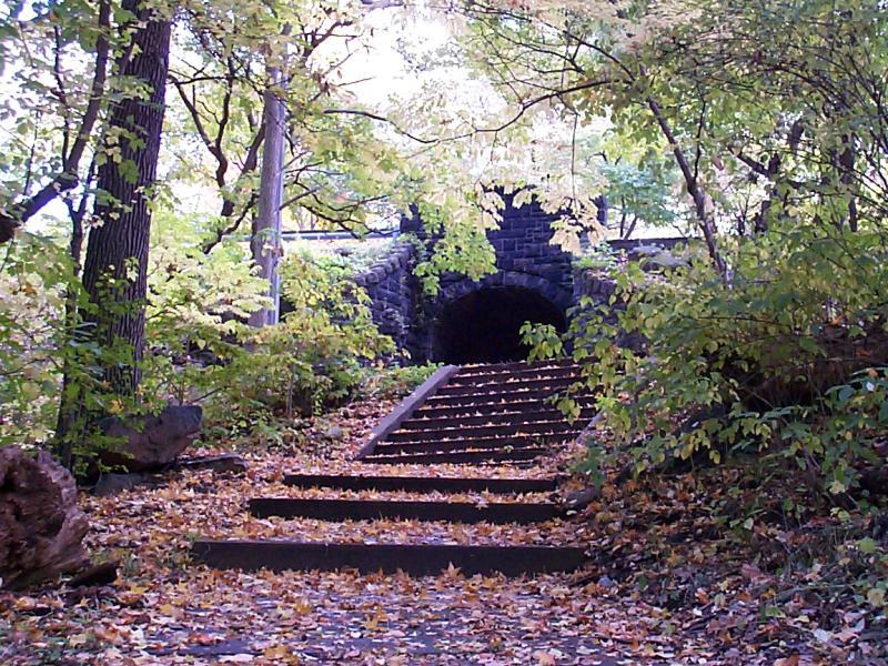 Tunnel im Herbst