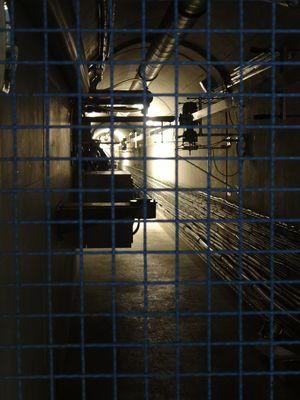 Tunnel zwischen ATLAS Kaverne und LHC Tunnel