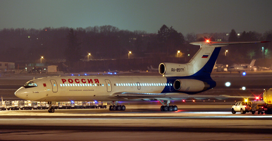 Tupolev at night