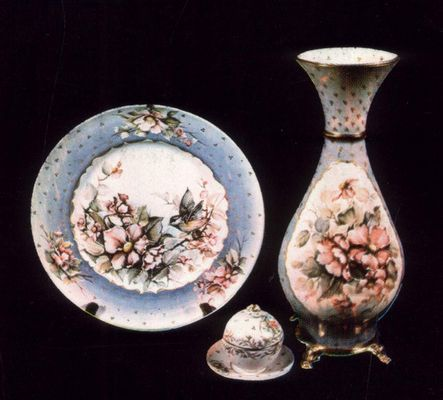 Turel works on ceramic