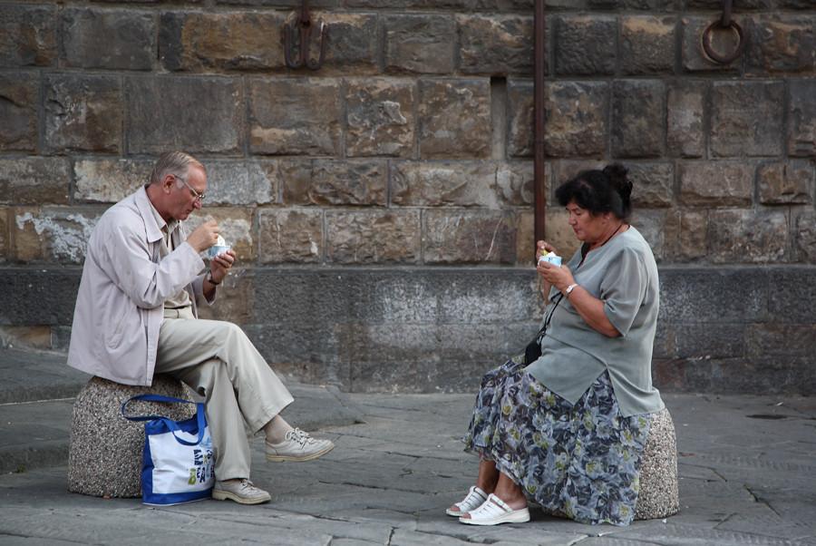 Turisti....Pausa Gelato