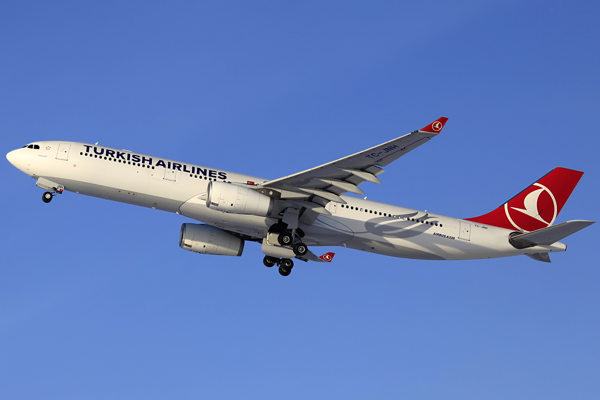 Turkish Airlines A330 - Munich Airport am 09.02.2013