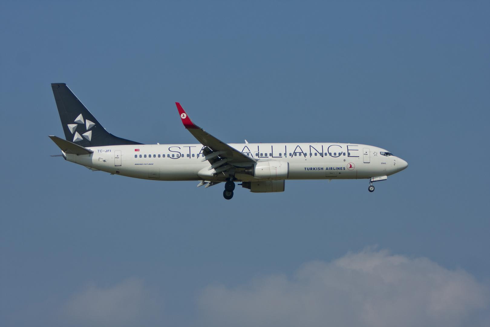 Turkish Airlines Star Alliance Boeing 737-8F2