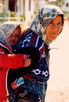 Turkish woman with child