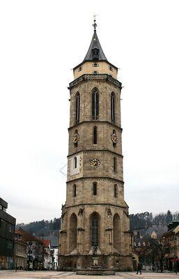 "....... "" Turm der evangelischen Stadtkirche in Balingen...""!"